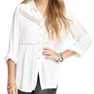 NWT Free People Women's Wild Wing Woven LS